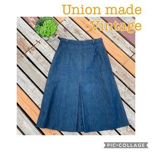 Vintage Paddle & Saddle Denim Jean Skirt A line
